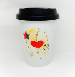 Travel mug one wall Miro Heart