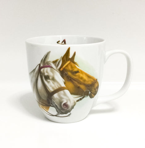 Κούπα Mug151 Horse Head White & Brown