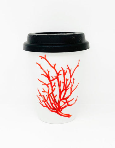 Travel mug one wall Coral