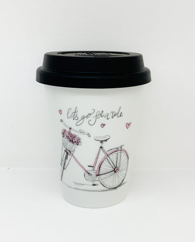 Travel mug one wall Pink Bike