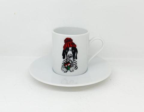 Φλιτζάνι Espresso Christmas Zoo Dog Dane
