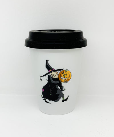 Travel mug one wall Halloween Witche design1