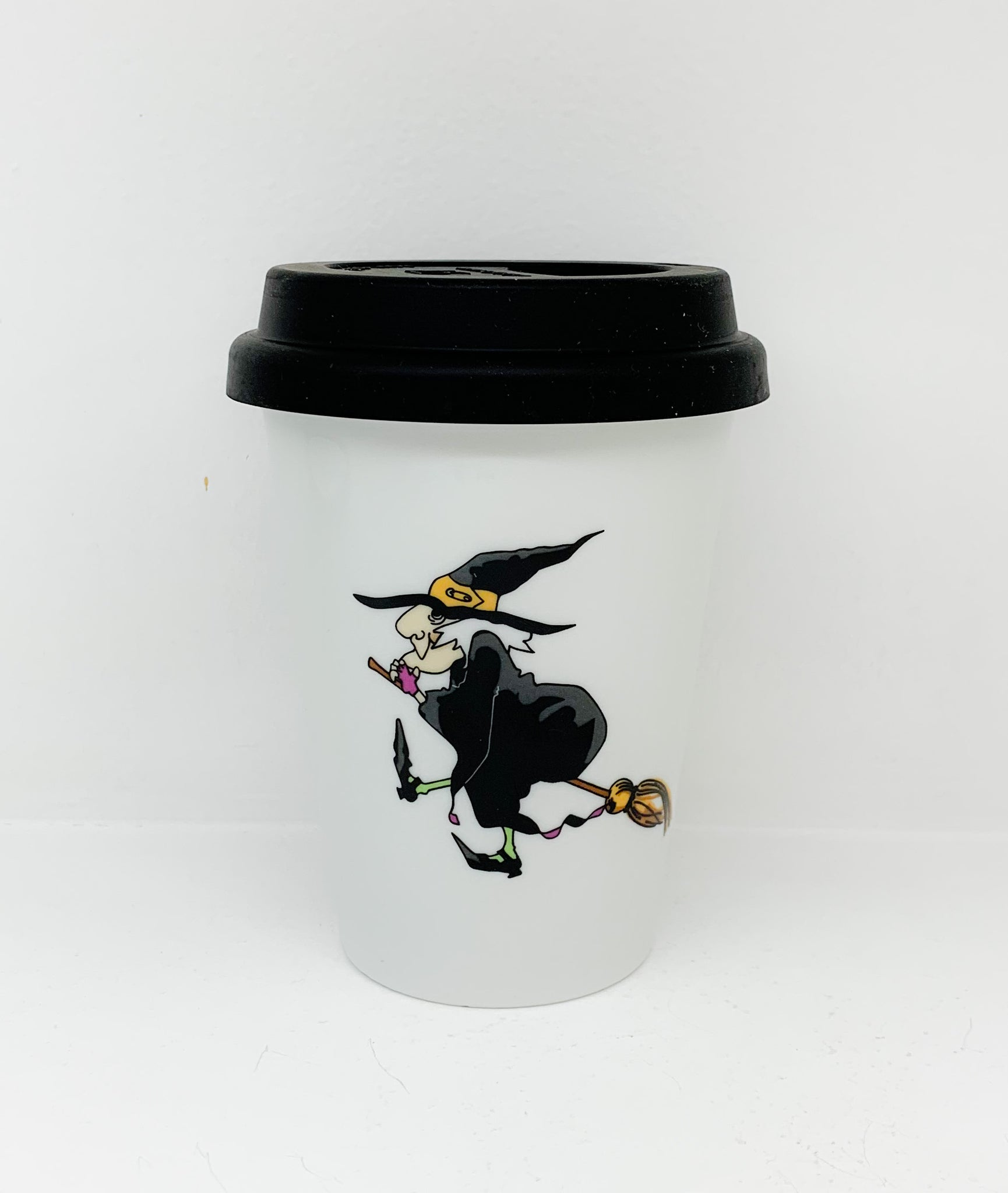 Travel mug one wall Halloween Witche design3