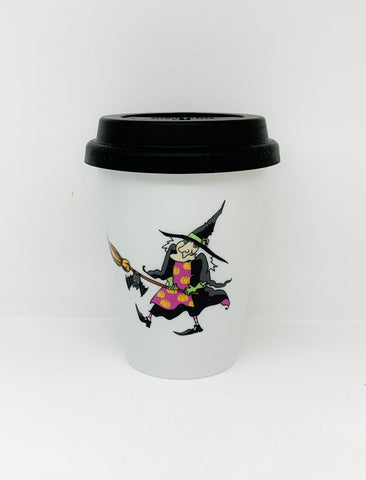 Travel mug one wall Halloween Witche design4
