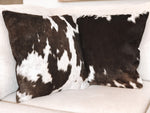 Cowhide Cushion - Dark Brown