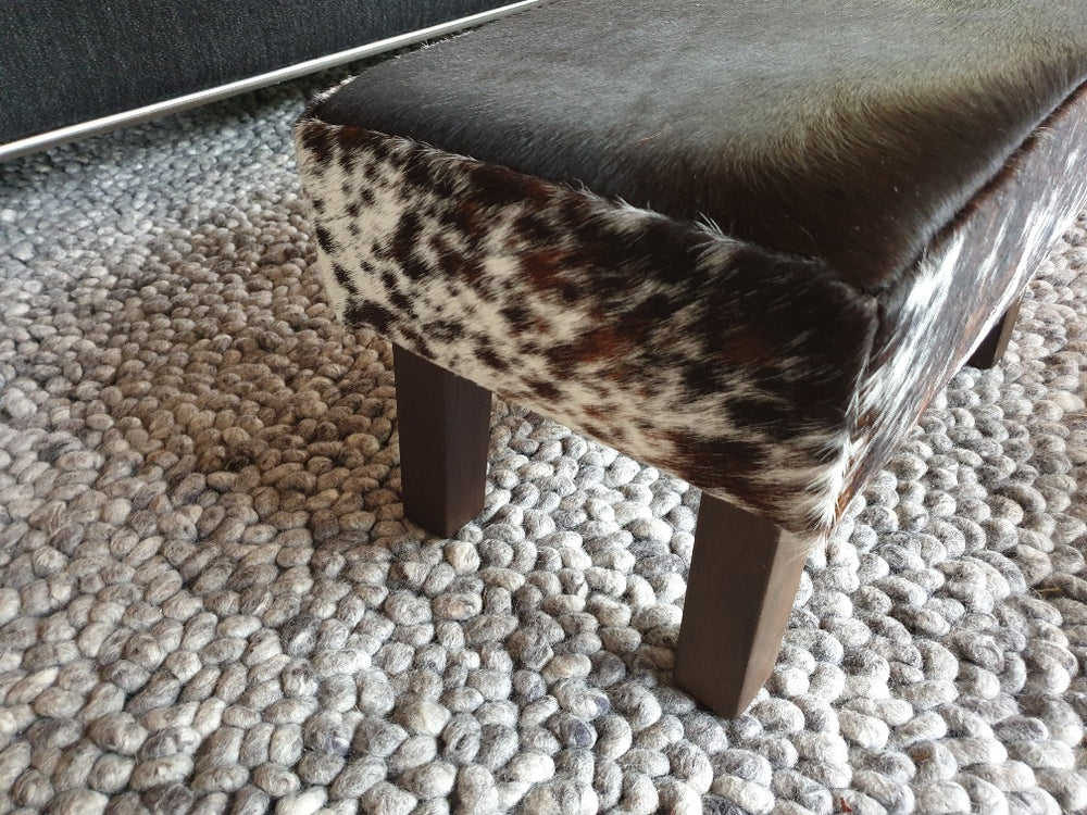 Salt & Pepper Angled Leg Footstool