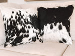 Cowhide Cushion - Black & White