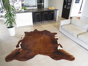 Large Cowhide - Dark Brindle