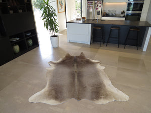 Large Cowhide Grey