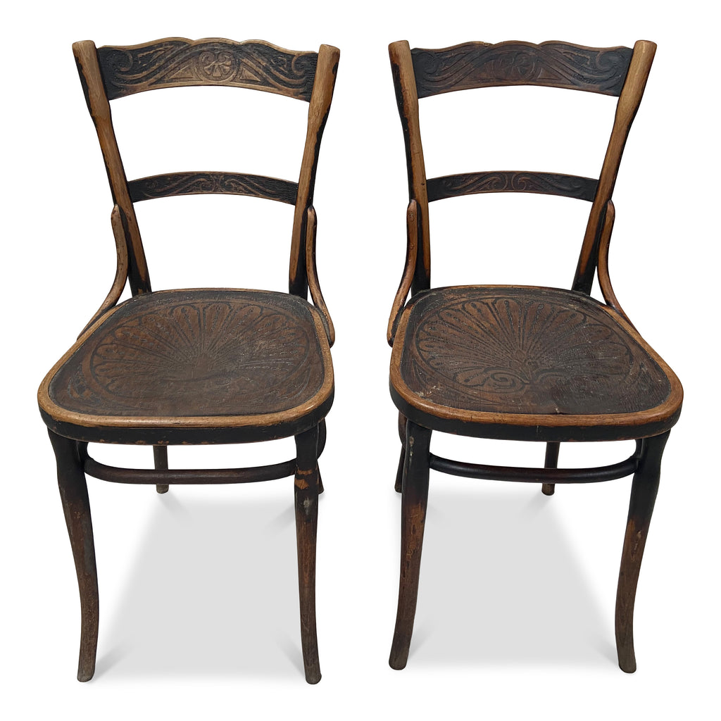 Pair of Vintage French Dining Chairs
