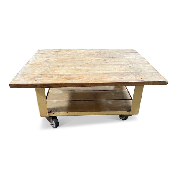 Vintage Rolling Coffee Table • No.64-2