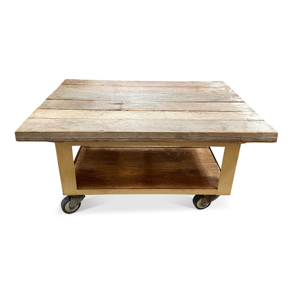 Vintage Rolling Coffee Table • No.64-3