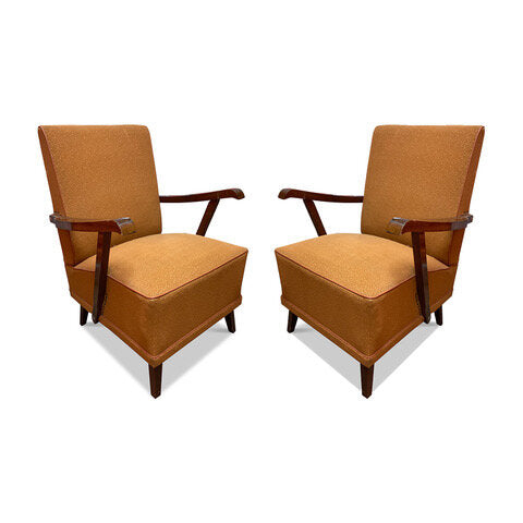 French Art Deco Chairs, Sold as Pair