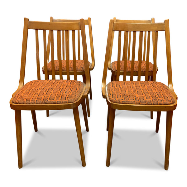 Mid Century Dining Chairs Set of 4