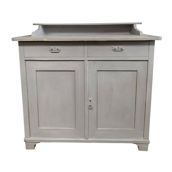 "Vintage French Light Grey Storage Cabinet 40""W x 19""D x 39""H"