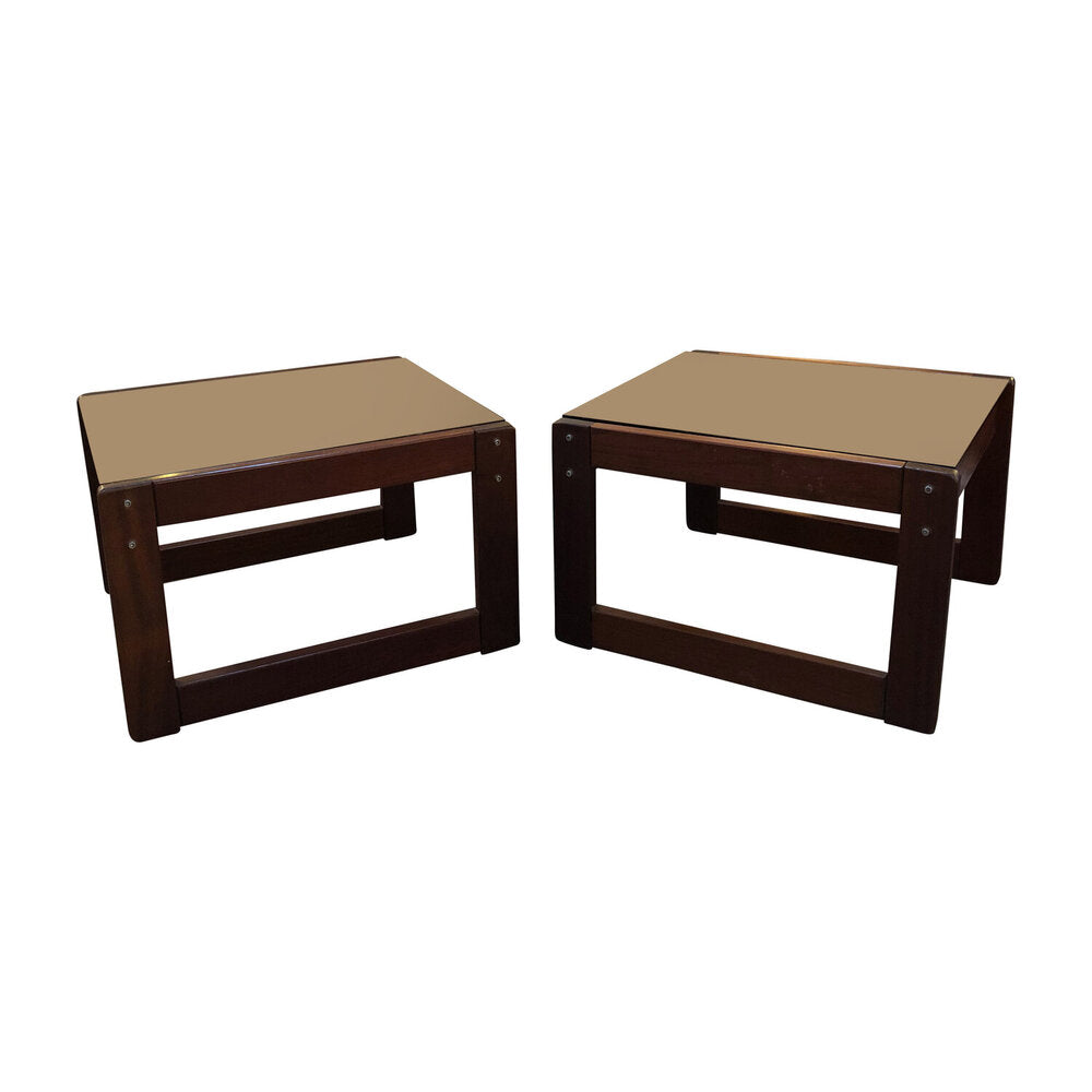 "Teak Stacking Side Tables 22""W x 23""D x 15""H"