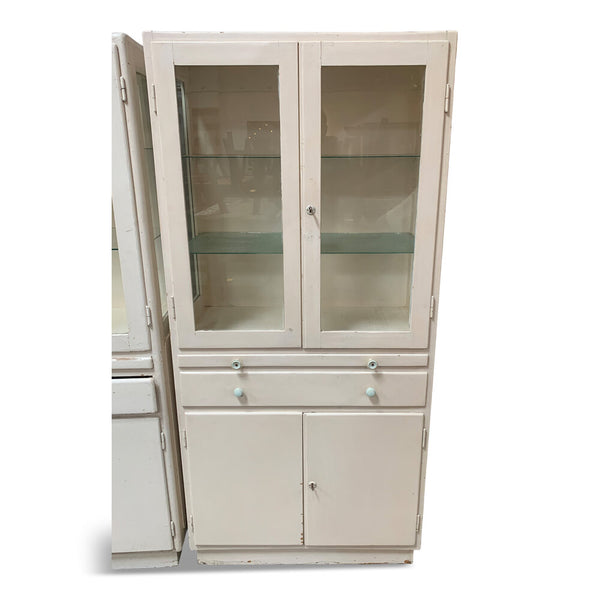 "Vintage French Medical Cabinet 31.5""W x 16""D x 66.5""H"