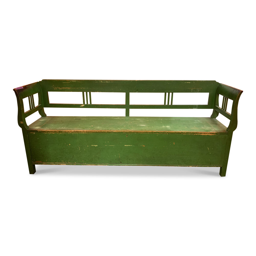 Vintage French Bench with Storage