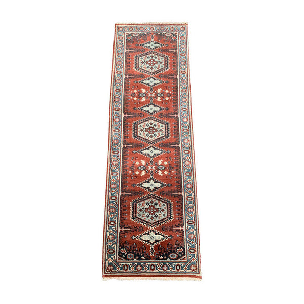 "Antique Kazak Caucasian Rug Runner • 2'7"" x 7'9"""