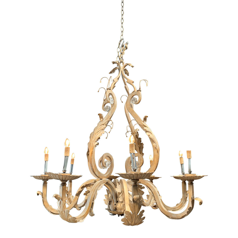 "Vintage Gilded Chandelier 34""Di x 44""H"