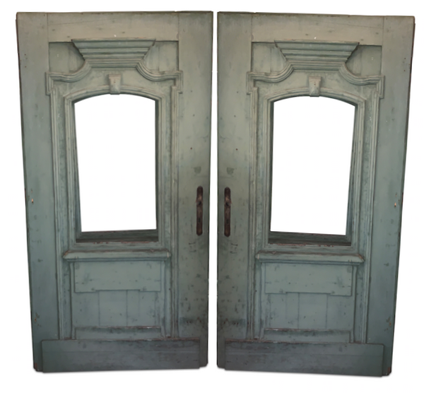 "Pair of European Antique Doors 99""H x 51""W"