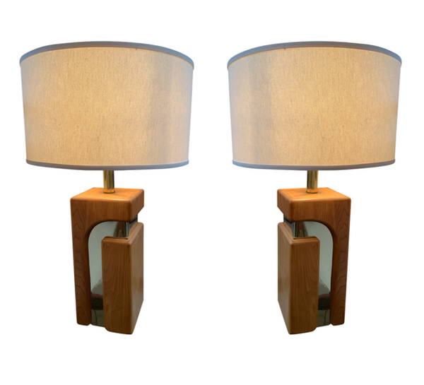 Mid Century Wood Lamps