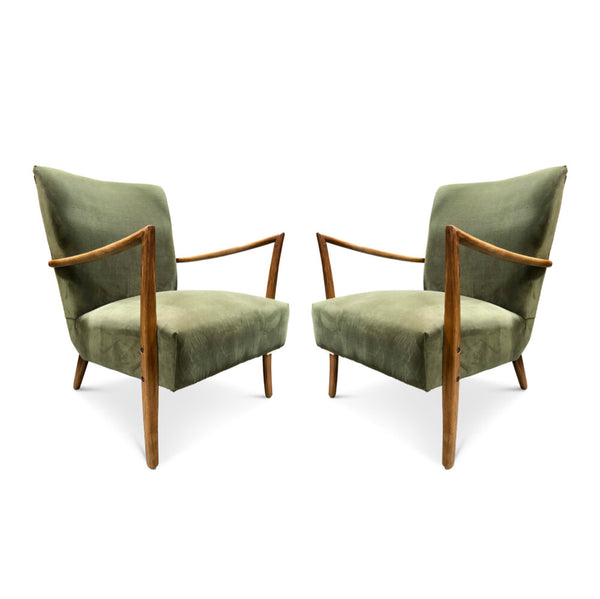 Green Velvet Occasional Chairs