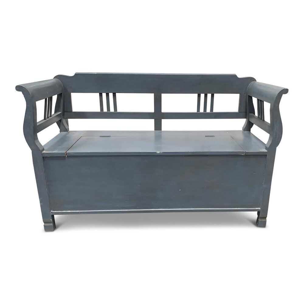 Vintage Grey Storage Bench
