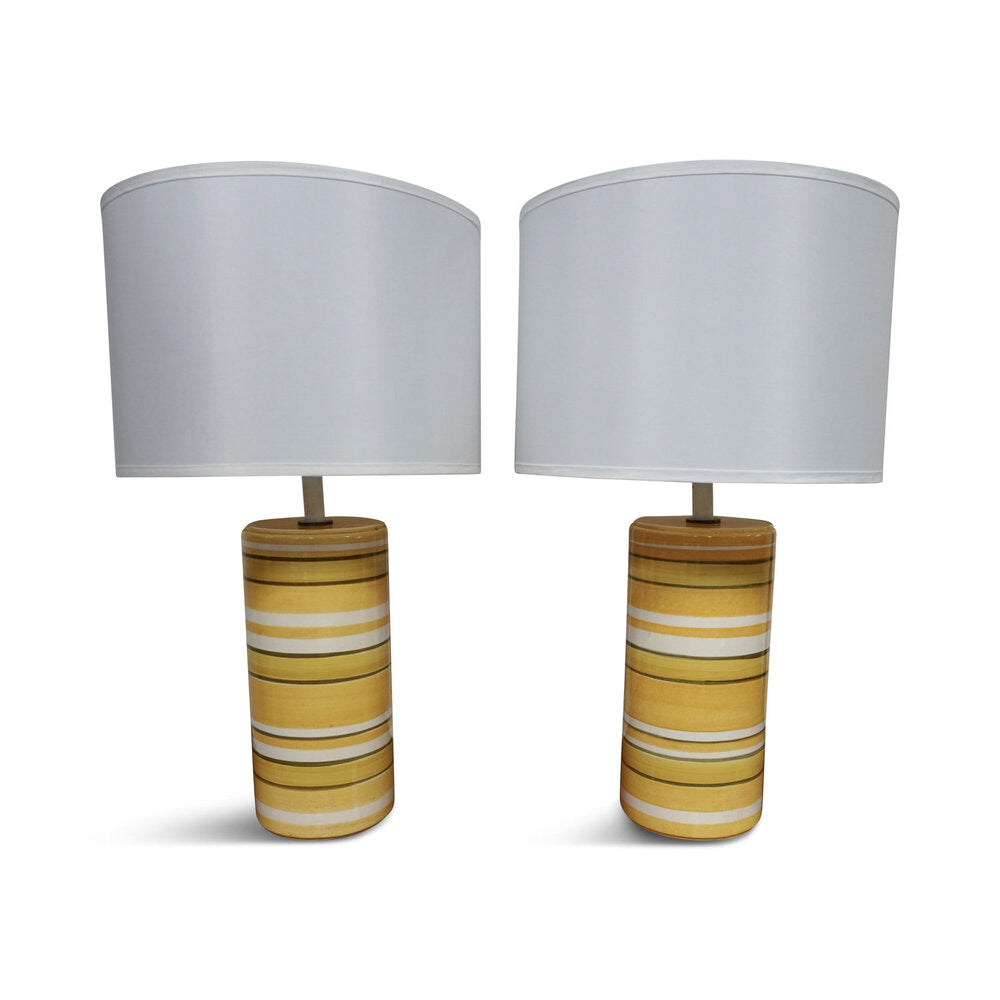 "Midcentury Lamps Midcentury Lamps with new linen shades  (27.5""H x 16""R)"