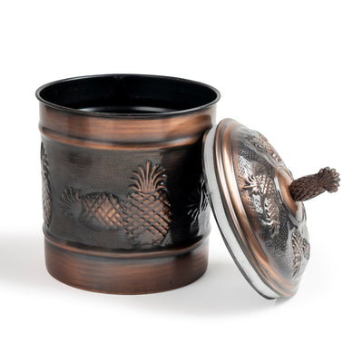 PINEAPPLE CANISTERS ANTIQUE COPPER - Nusteel