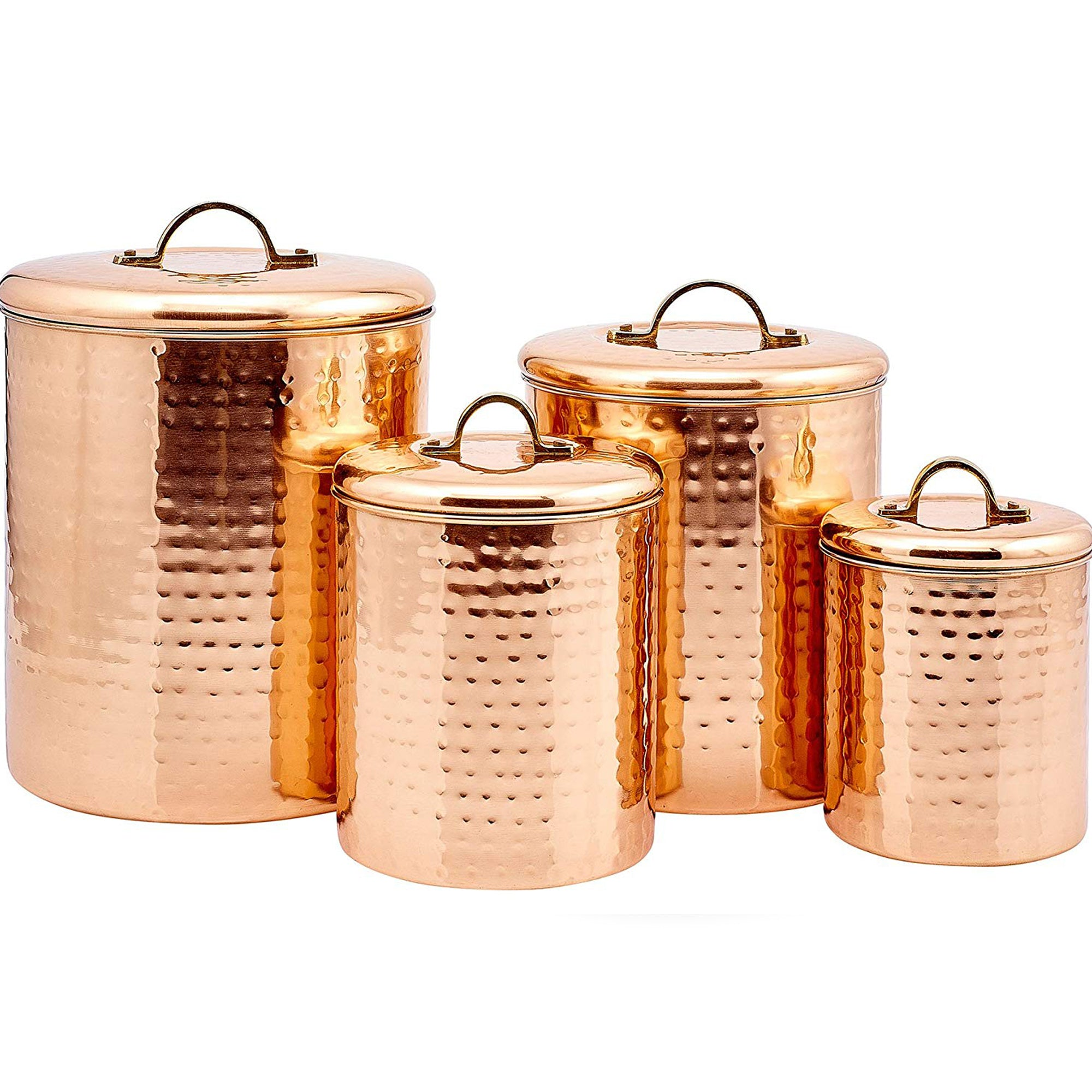 HAMMERED CANISTERS ANTIQUE COPPER - Nusteel
