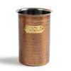 HAMMERED ANTIQUE COOKIE JAR/TOOL CADDY - Nusteel