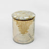 HAMMERED GLASS CANISTER SMALL W/MOP LID GC-53S - Nusteel