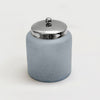 FROSTED AQUA CRACKLE GLASS CANISTER SMALL GC-5408-S - Nusteel