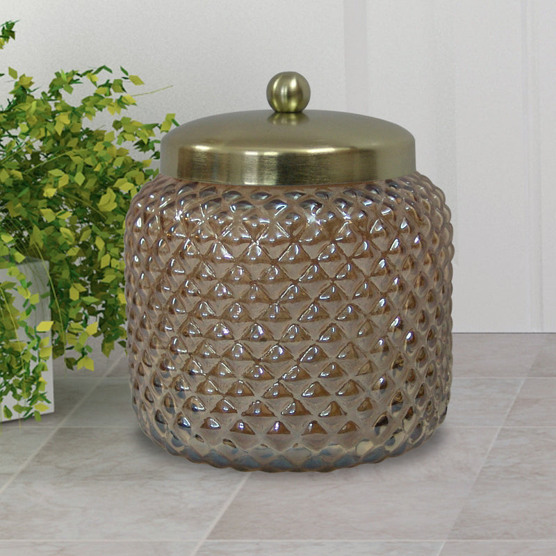 GOLD LUSTRE GLASS CANISTER LARGE GC-5415GL - Nusteel