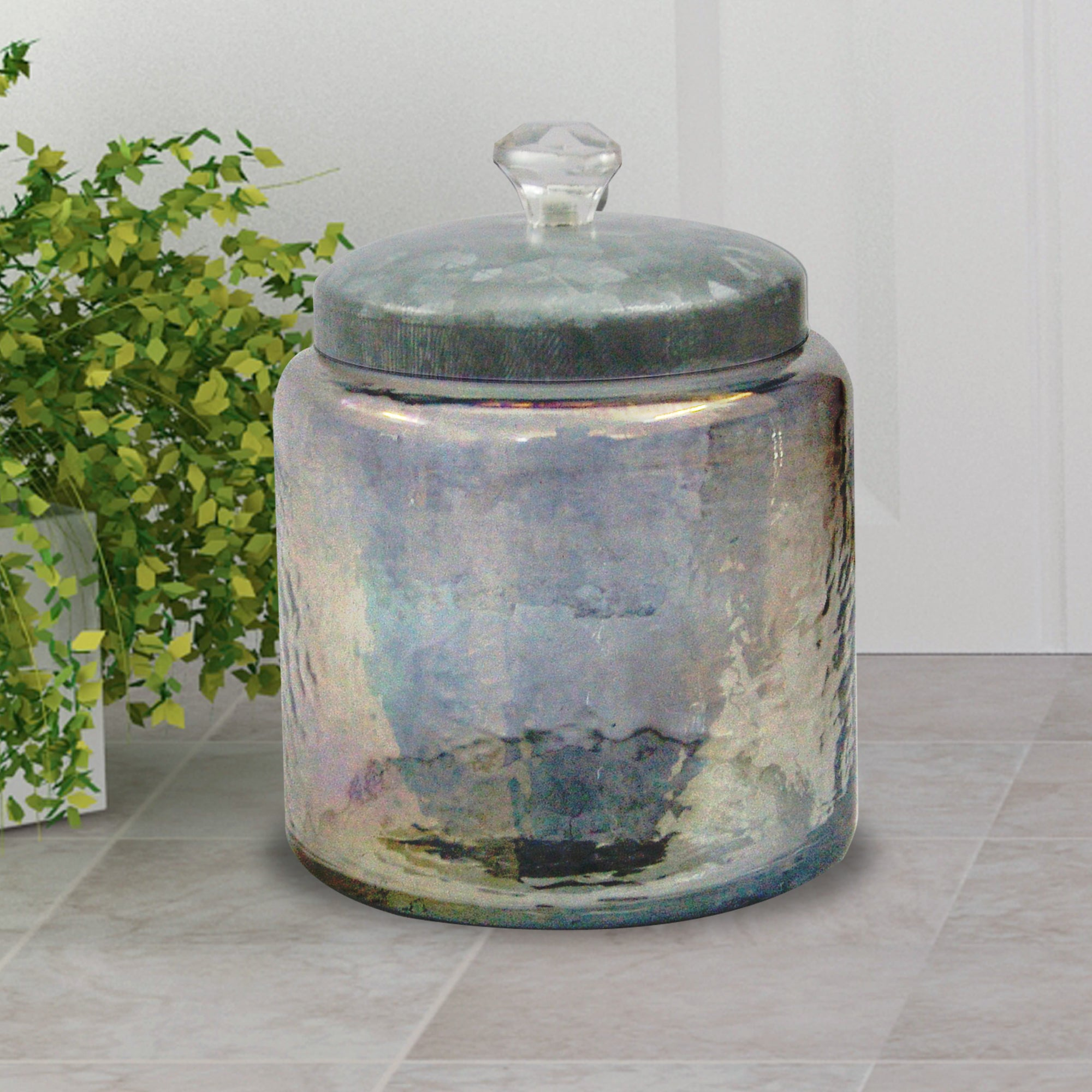 CLEAR LUSTRE GLASS CANISTER LARGE GC-5416L - Nusteel