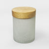 SMOKE GLASS CANISTER LARGE W/ WOODEN LID GC-54L - Nusteel