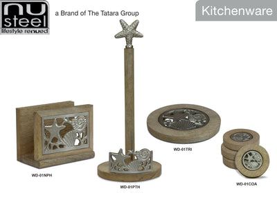 WOODEN POLISHED KITCHEN COLLECTION - NICKLE FINISH - Nusteel