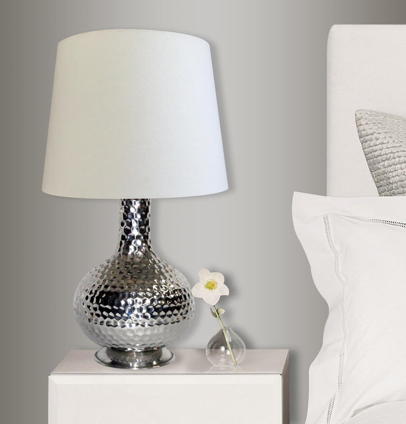 Hammered Lamp w/UNO Cream shades LS-207 - Nusteel