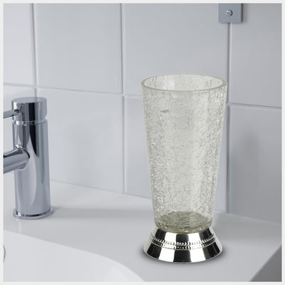 REGAL - CRACKLE GLASS W/CHROME TRIM - Nusteel