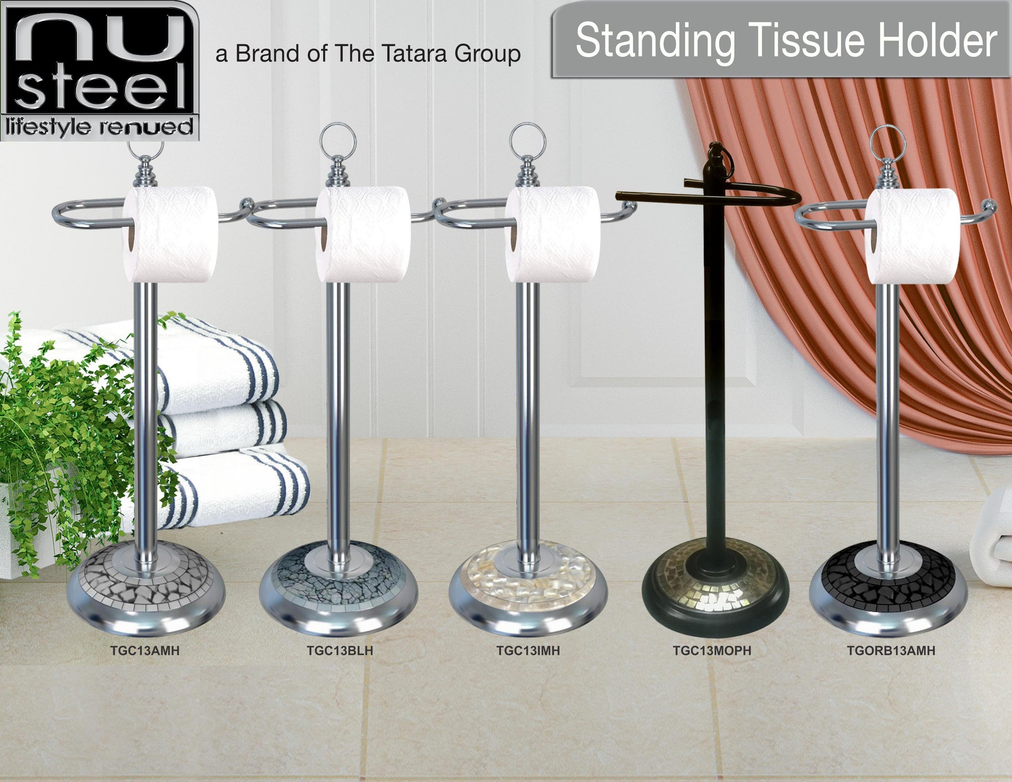 MOSAIC STANDING TOILET TISSUE HOLDERS