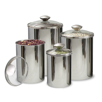 CANISTER WITH GLASS - Nusteel