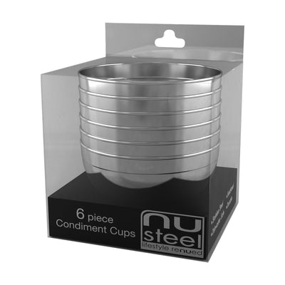 Condiment Cup 6 Pc Set TG-CC-6PC - Nusteel