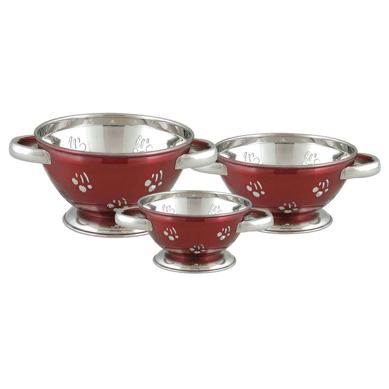 COLANDER  CHERRY STAINLESS STEEL RED COLOR COATING - Nusteel