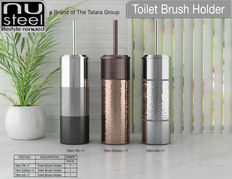 ASSORTED TOILET BRUSH HOLDERS - Nusteel