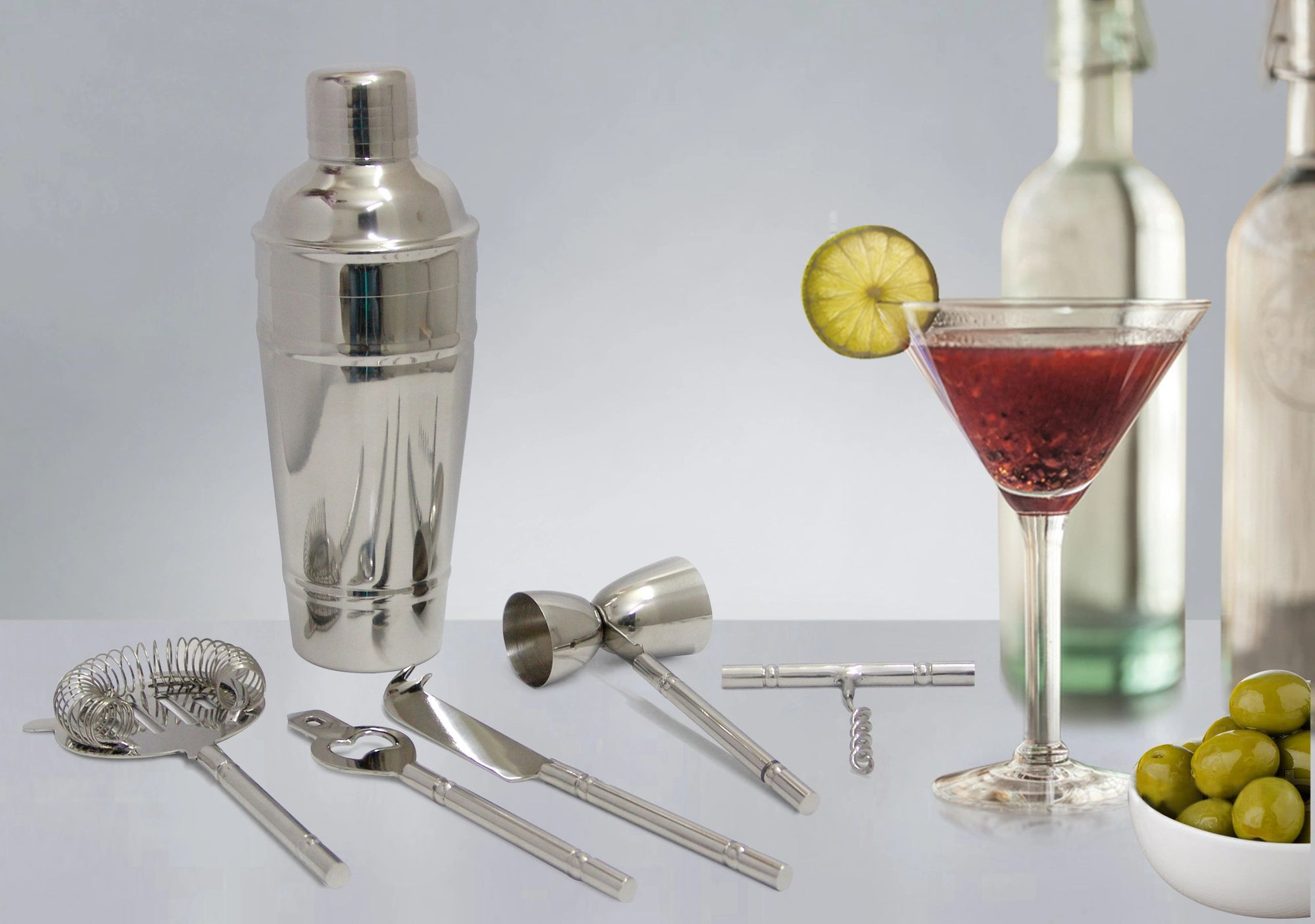 TG-CS-533SS Double band Cocktail shaker stainless steel