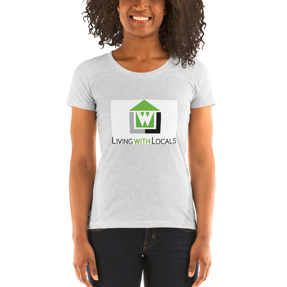 Living With Locals Ladies' short sleeve t-shirt