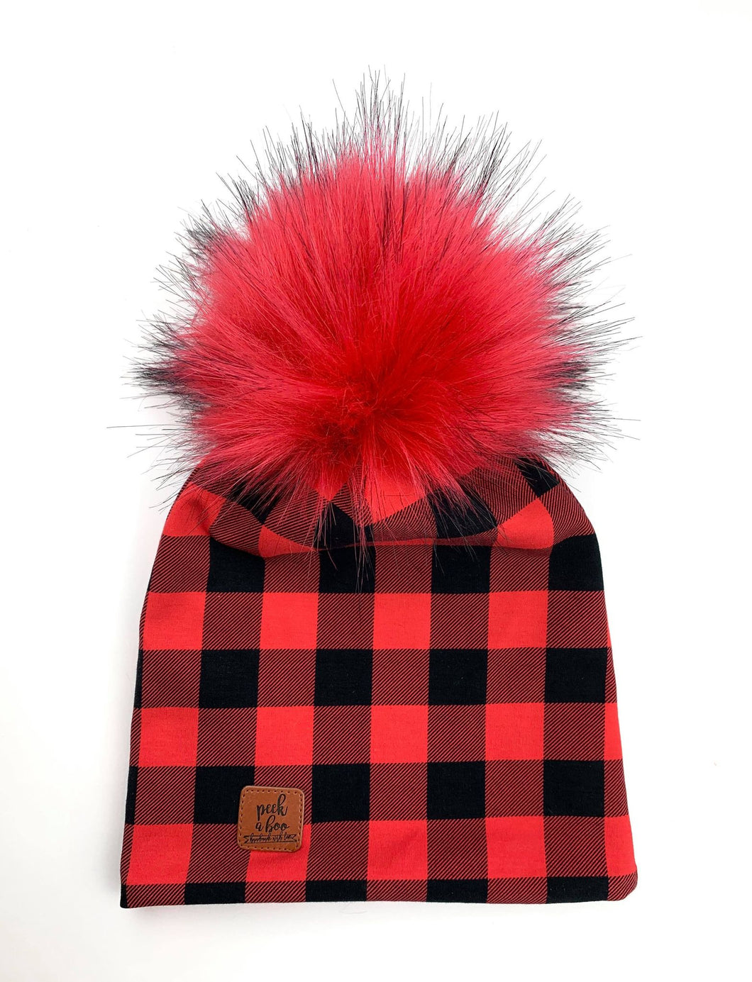 Slouchy beanies Plaid
