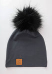 Slouchy Beanie Charcoal