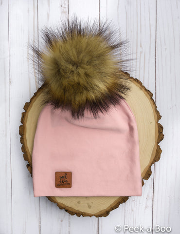 Vintage pink Slouchy Beanie